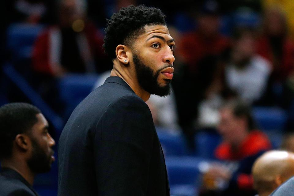 Anthony Davis has reportedly submitted a four-team list of his preferred long-term destinations to the Pelicans. (Photo by Jonathan Bachman/Getty Images)