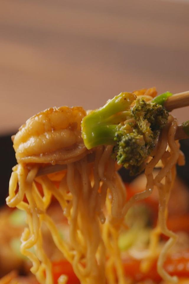 """<p>You wish you had this ramen in college.</p><p>Get the recipe from <a href=""""https://www.delish.com/cooking/recipe-ideas/recipes/a55479/garlicky-shrimp-ramen-recipe/"""" target=""""_blank"""">Delish</a>.</p><section></section>"""