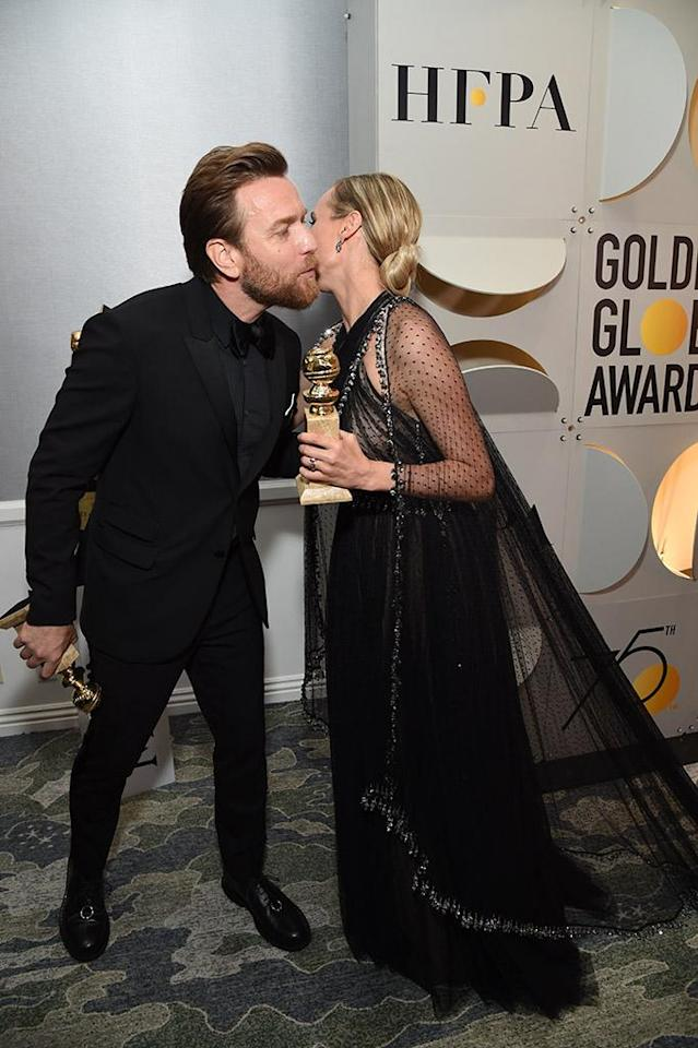 <p>Ewan McGregor and Diane Kruger attend the 75th Golden Globe Awards, held at the Beverly Hilton Hotel. (Photo: Michael Kovac/WireImage ) </p>
