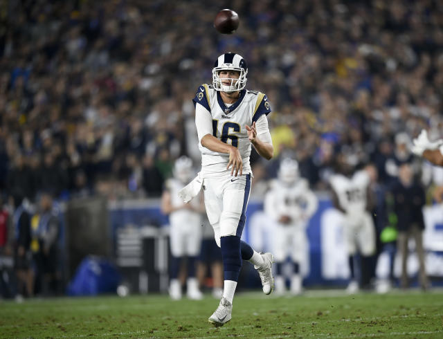 Los Angeles Rams quarterback Jared Goff took a big step forward this season. (AP)