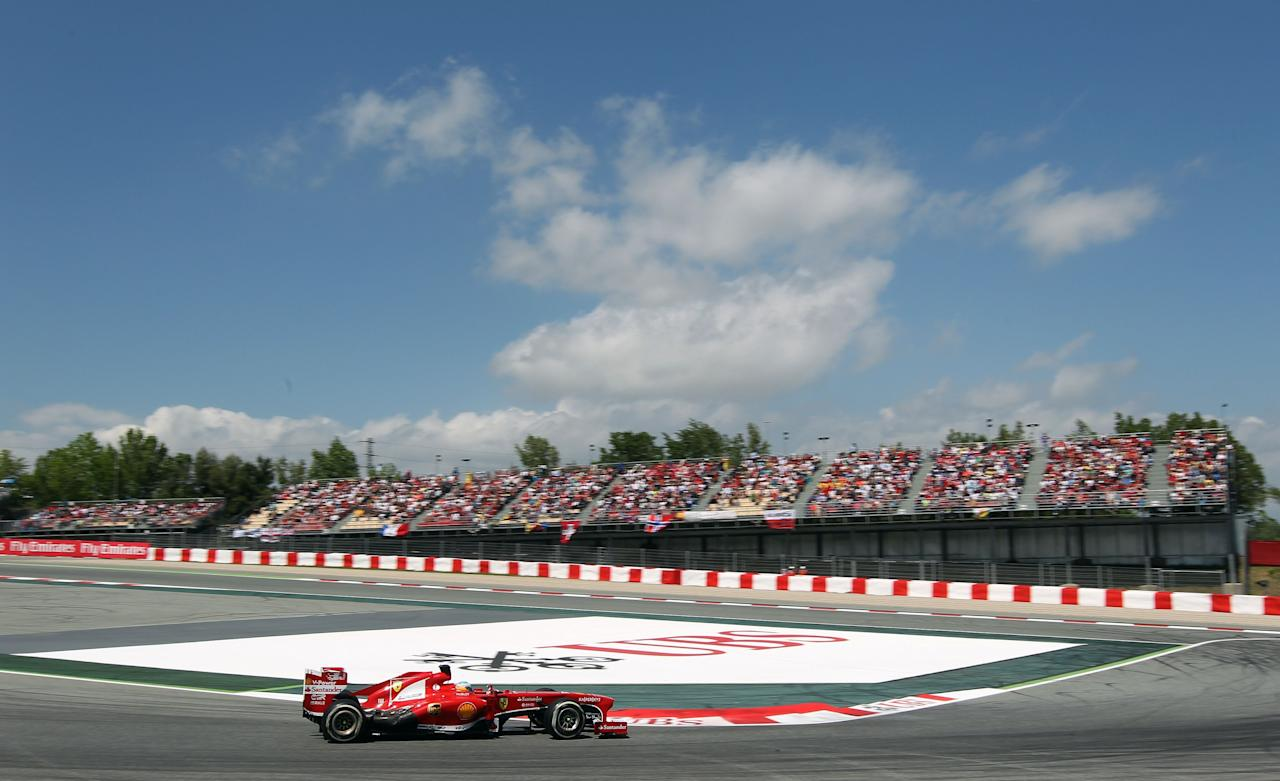 Ferrari's Fernando Alonso during the Spanish Grand Prix at the Circuit de Catalunya, Barcelona, Spain.