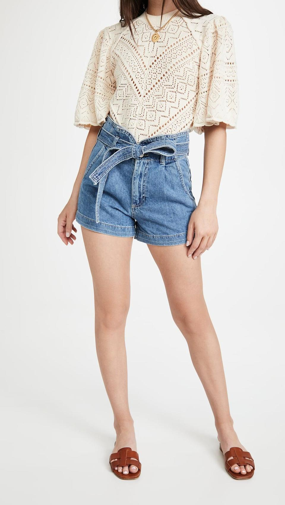 <p>We're all about the bow-tie on the <span>DL1961 Camile Denim Shorts</span> ($169).</p>