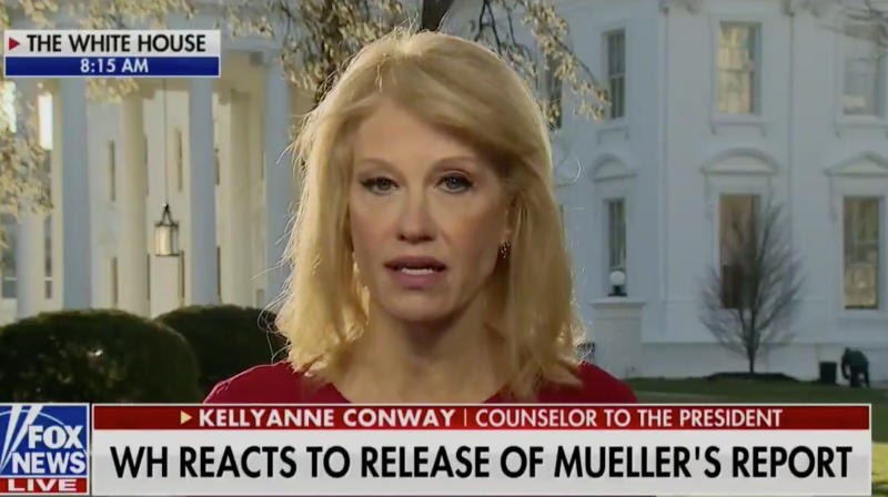 Kellyanne Conway Diverts Criticism Back To Hillary Clinton After Russia Probe's Conclusion