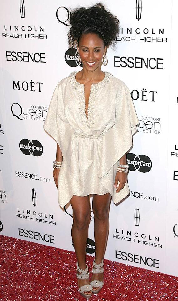 "Jada Pinkett Smith rocked a curly updo and a shimmery frock at the 3rd Annual <i>Essence</i> Black Women in Hollywood Luncheon at the Beverly Hills Hotel. Although her father sadly passed away of a heart attack last week, the actress wanted to be on hand to present her good friend Queen Latifah with the Power Award. Andy Fossum/<a href=""http://www.splashnewsonline.com/"" target=""new"">Splash News</a> - March 4, 2010"