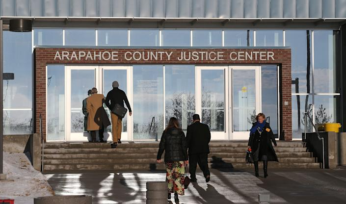 A jury pool of 7,000 will be screened at the Arapahoe County court in Centennial, Colo., to determine 12 jurors and 12 alternates in the trial of James Eagan Holmes. (Brennan Linsley/AP Photo)