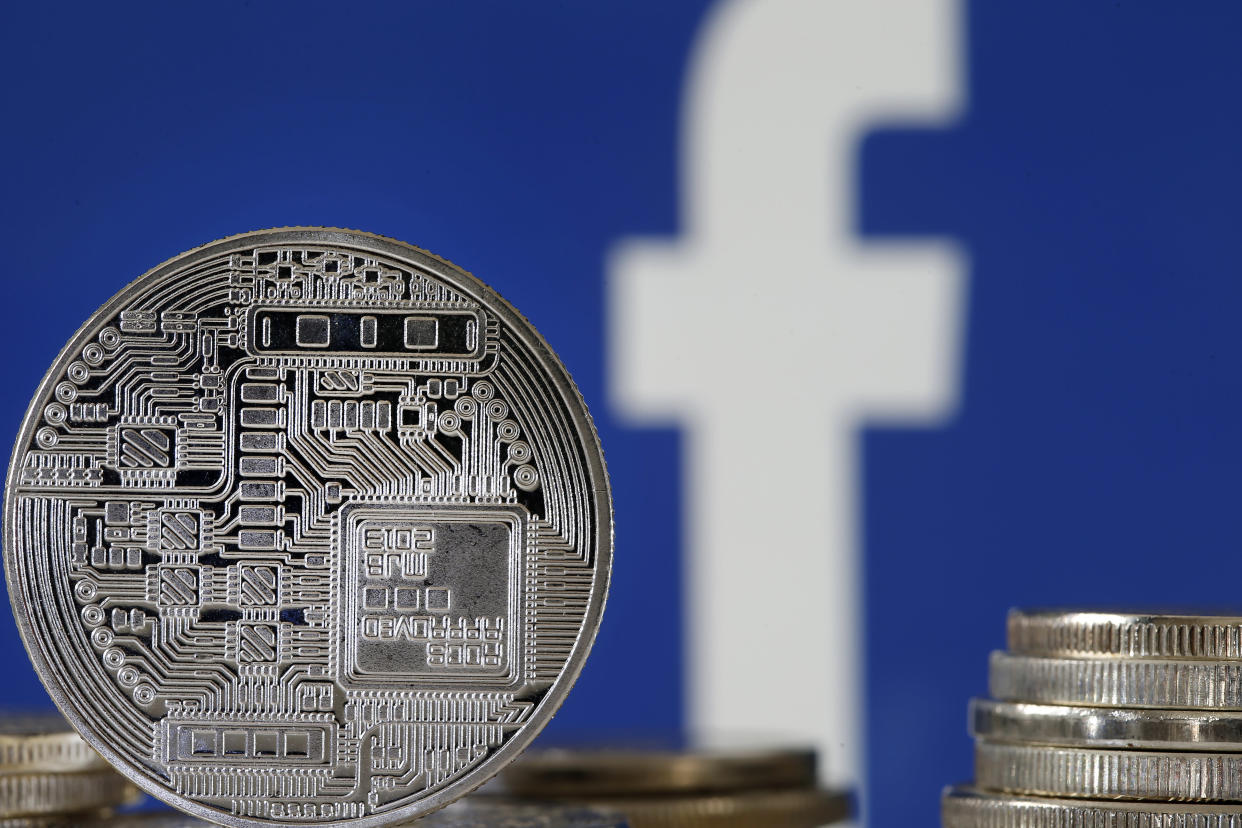 A visual representation of digital currency. Facebook unveiled its subsidiary Calibra, a digital wallet to store and send Libra, a new cryptocurrency to launch in 2020. Photo: Chesnot/Getty