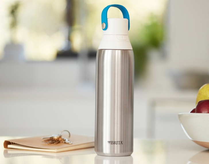 A stainless steel bottle with a built-in filter? That's what we call high-end hydration. (Photo: Brita)