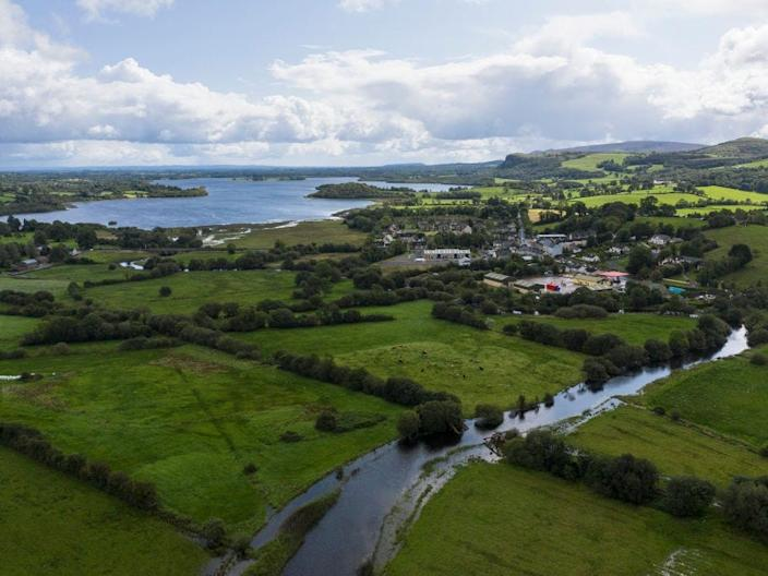 The river Belcoo, which forms the border between Northern Ireland and the Republic of Ireland.