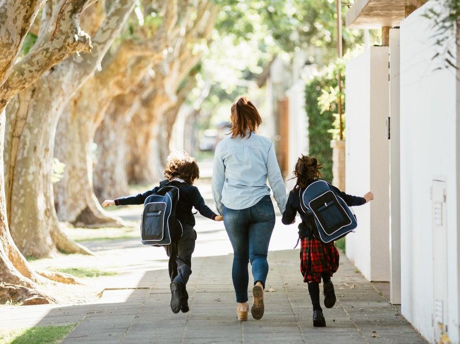 <p>With two of us at home, I can be more independent, and there's a comfort in knowing I have help if I need it. We now share the school runs, which makes a big difference to my working day</p> (Getty)