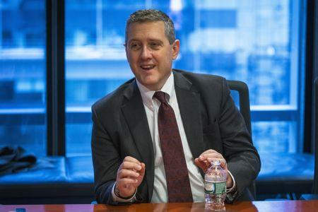 St. Louis Fed President James Bullard speaks about the U.S. economy during an interview in New York