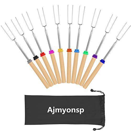 """<p><strong>Ajmyonsp</strong></p><p>amazon.com</p><p><strong>$17.85</strong></p><p><a href=""""https://www.amazon.com/dp/B07TZ44CJ5?tag=syn-yahoo-20&ascsubtag=%5Bartid%7C2140.g.19983997%5Bsrc%7Cyahoo-us"""" rel=""""nofollow noopener"""" target=""""_blank"""" data-ylk=""""slk:Shop Now"""" class=""""link rapid-noclick-resp"""">Shop Now</a></p><p>Bring the s'mores indoors with this set of 10 extendable roasting skewers that help make the sweet taste of summer—a.k.a. a gooey golden marshmallow—last all year long. (Tbh, my family received a set of our own eons ago, and we're still loving them no matter if it's winter, spring, summer, or fall.)<br></p>"""