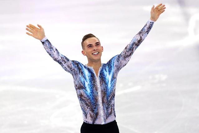 <p>Ripopon celebrates after competing in the Figure Skating Team Event Men's Single Free Skating on day three of the PyeongChang 2018 Winter Olympic Games. </p>