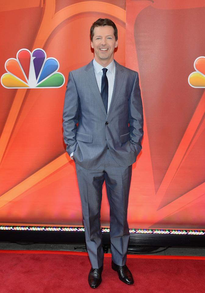 NEW YORK, NY - MAY 13:  Actor Sean Hayes  attends 2013 NBC Upfront Presentation Red Carpet Event at Radio City Music Hall on May 13, 2013 in New York City.  (Photo by Slaven Vlasic/Getty Images)