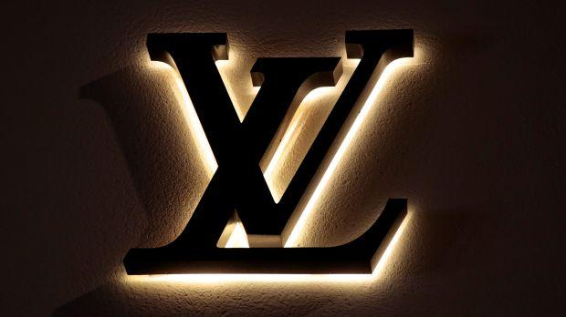 The intertwined L and V of the Louis Vuitton logo