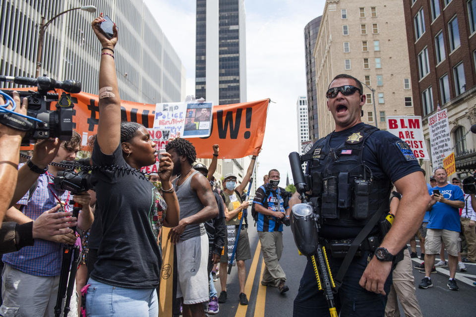 A demonstration for racial justice
