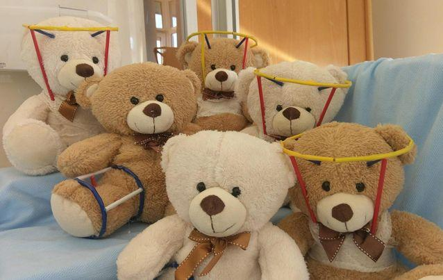 Rachel Dark even made a family of bears to keep Riley company. Source: SWNS