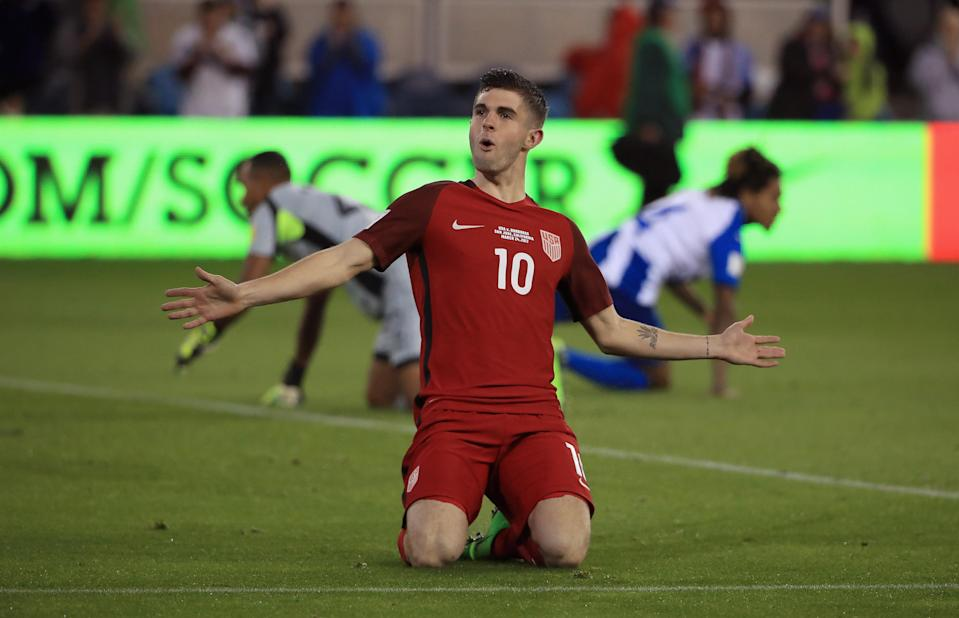 Christian Pulisic is back with the U.S. men's national team for the first time since the World Cup qualifying loss in Trinidad and Tobago. (Getty)