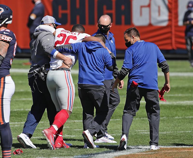 New York Giants star Saquon Barkley's season has been ended by a week two ACL tear (Getty Images)