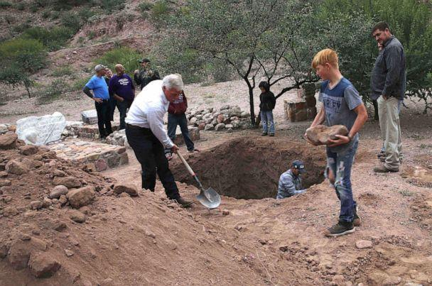 PHOTO: Men dig a mass grave for some of the women and children related to the extended LeBaron family before their burial at the cemetery in La Mora, Sonora state, Mexico, Nov. 7, 2019. (Marco Ugarte/AP)