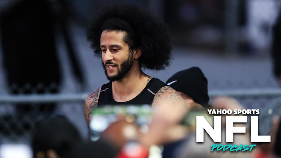 Charles Robinson peels back the curtain to reveal the NFL's true intentions with their strangely-timed workout of Colin Kaepernick over the weekend. (Photo by Carmen Mandato/Getty Images)