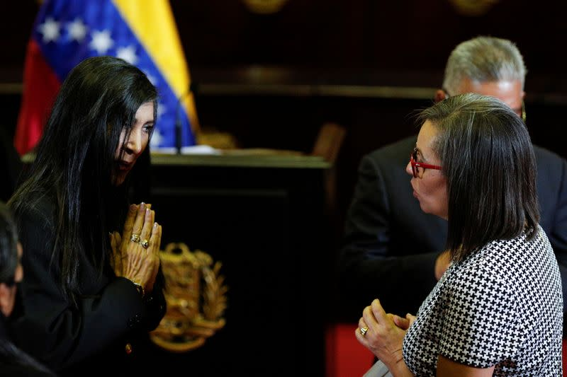 Swear-in ceremony for the new leaders of the Venezuela's National Electoral Council in Caracas