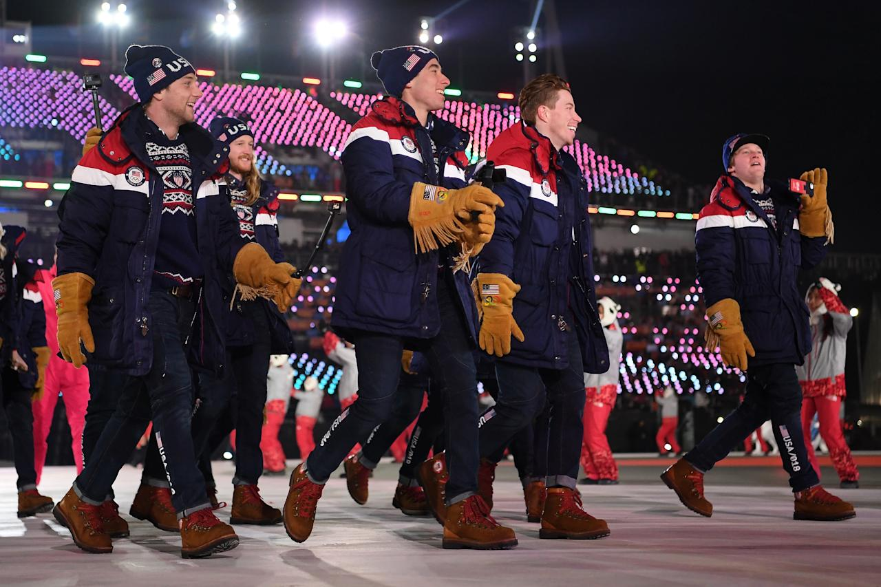 <p>The jackets are sharp enough, but those gloves? Those gloves — part cowboy, part lumberjack — were the highlight for the Americans. </p>
