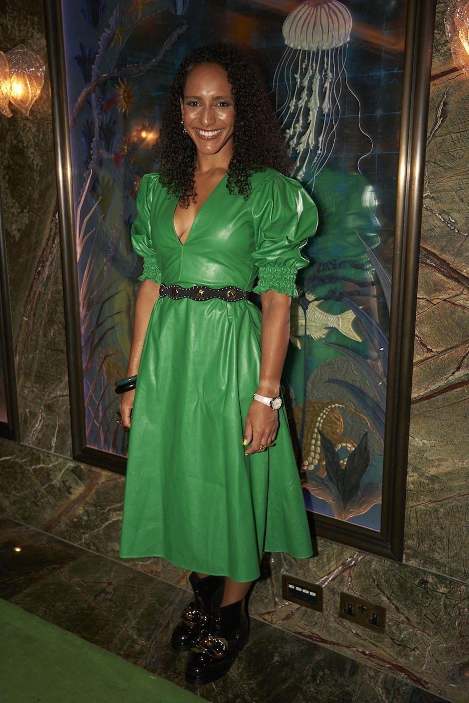 <p><strong>28 September</strong><br></p><p>Writer Afua Hirsch paired her MSGM dress with an Omega watch and JW Anderson boots.</p>