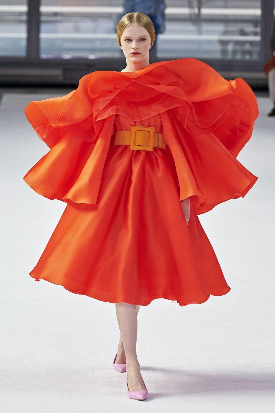 <p>These look-at-me moments are only for the bold...and people who LOVE frills.</p><p><em>Carolina Herrera</em></p>