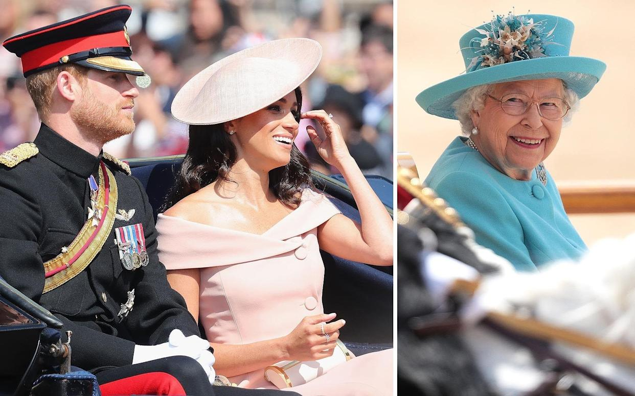 The Duke and Duchess of Sussex attended as the Queen celebrated