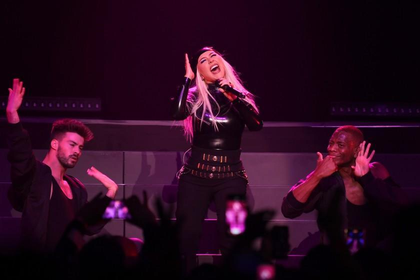 LAS VEGAS, NEVADA - JUNE 10: Christina Aguilera performs during the Unstoppable Weekend grand opening celebration at The Theater at Virgin Hotels Las Vegas on June 10, 2021 in Las Vegas, Nevada. (Photo by Denise Truscello/Getty Images for ABA)