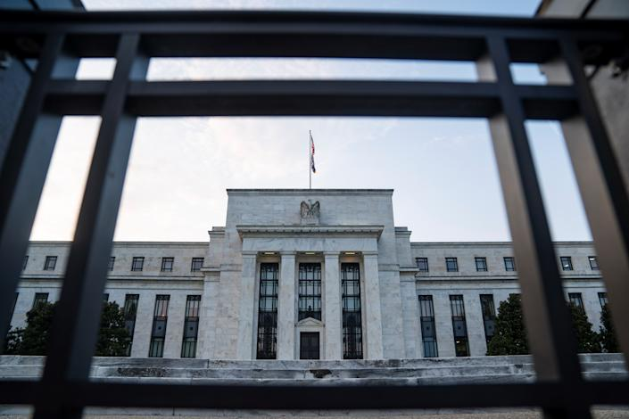 Photo taken on July 15, 2021 shows the U.S. Federal Reserve in Washington, D.C., the United States. U.S. Federal Reserve Chair Jerome Powell said on Thursday that he was