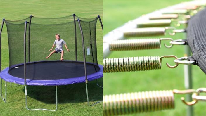 No backyard is complete without a big ol' trampoline!
