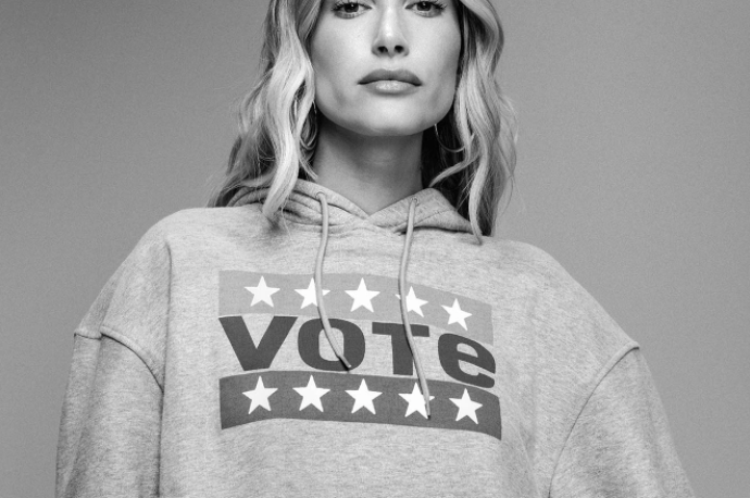 Rock your 'I voted' merch after the election. (Photo: Levi's)