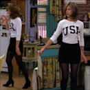 "<p>Remember what I said about Rachel's favorite combo? Yep, she's rocking it again, this time pairing her mini skirt and tights with a USA sweater. </p><p><strong>What you'll need:</strong> <em>Retro USA Crewneck Sweatshirt, $35, Wild Kard Vintage</em></p><p><a class=""link rapid-noclick-resp"" href=""https://go.redirectingat.com?id=74968X1596630&url=https%3A%2F%2Fwww.etsy.com%2Flisting%2F532630891%2Fnew-retro-usa-crewneck-sweatshirt-with%3Fgpla%3D1%26gao%3D1%26gclid%3DCj0KCQjwuZDtBRDvARIsAPXFx3Bn3iF2SmegcWJFMe4nkocC7RWWPkxa2S6FkTZqSBeIk2MSiS8WDU4aAkWCEALw_wcB&sref=https%3A%2F%2Fwww.seventeen.com%2Ffashion%2Fceleb-fashion%2Fg29439613%2Frachel-green-outfits-friends%2F"" rel=""nofollow noopener"" target=""_blank"" data-ylk=""slk:SHOP NOW"">SHOP NOW</a></p>"