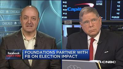 Larry Kramer, William and Flora Hewlett Foundation president, and Alberto Ibarguen, The Knight Foundation president and CEO, discuss the independent effort to understand Facebook's impact on elections.
