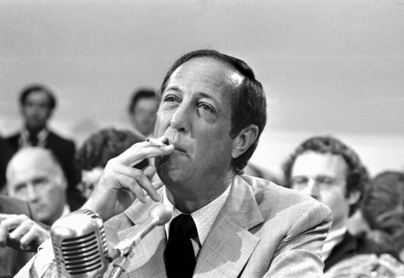 FILE - In this Sept. 7, 1973, file photo, NFL Commissioner Pete Rozelle appears before the House Communications Subcommittee on Capitol Hill In Washington. Rozelle was a visionary but no one knows if he could have seen the league turn into a financial juggernaut that has its own network and countless hours of programming per week dedicated to what is happening on and off the field. (AP Photo/File)
