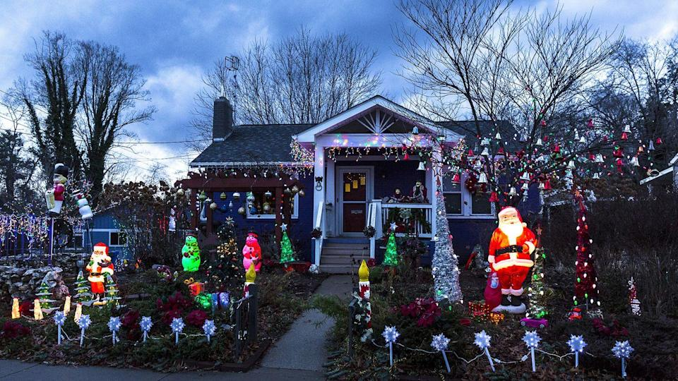 """<p>Asheville may be home to the famous Biltmore Estate, but there's more to the North Carolina city than the Vanderbilt mansion, especially during the holidays. (Though watching Santa practice his chimney-climbing skills on the mansion's 315-foot Chimney Rock is iconic.) Head over to The Omni Grove Park Inn for the <a href=""""https://www.exploreasheville.com/stories/post/gingerbread-house-competition-at-omni-grove-park-inn/"""" rel=""""nofollow noopener"""" target=""""_blank"""" data-ylk=""""slk:National Gingerbread House Competition"""" class=""""link rapid-noclick-resp"""">National Gingerbread House Competition</a> or the N.C. Arboretum's after-dark for its <a href=""""https://www.exploreasheville.com/stories/post/north-carolina-arboretums-winter-lights-bring-holidays-to-life/"""" rel=""""nofollow noopener"""" target=""""_blank"""" data-ylk=""""slk:Winter Lights"""" class=""""link rapid-noclick-resp"""">Winter Lights</a> display. You can even let the <a href=""""https://www.exploreasheville.com/stories/post/dickens-in-the-village-festival-in-asheville-nc/"""" rel=""""nofollow noopener"""" target=""""_blank"""" data-ylk=""""slk:Old World Dickens in the Village Festival"""" class=""""link rapid-noclick-resp"""">Old World Dickens in the Village Festival</a> transport you to the author's days and <em>A Christmas Carol.</em> </p>"""