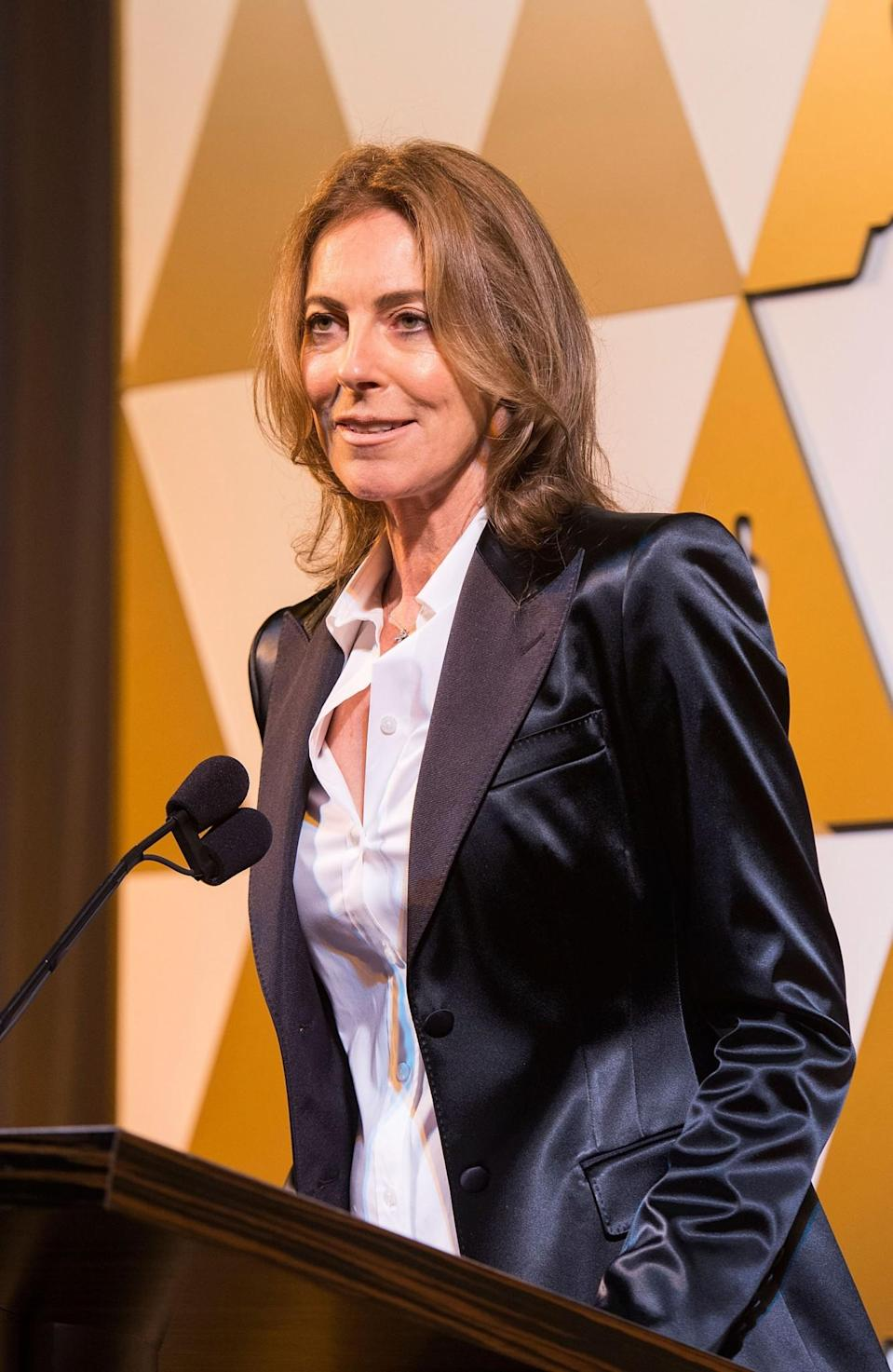 """<p>Kathryn Bigelow made history in 2010 as the first woman to win the best director Oscar for her Iraq war film, <i>The Hurt Locker</i>. She described the award as a """"moment of a lifetime"""" and reiterated the fact that she likes to think of herself as just a filmmaker rather than a female one. <i>[Photo: Getty]</i> </p>"""
