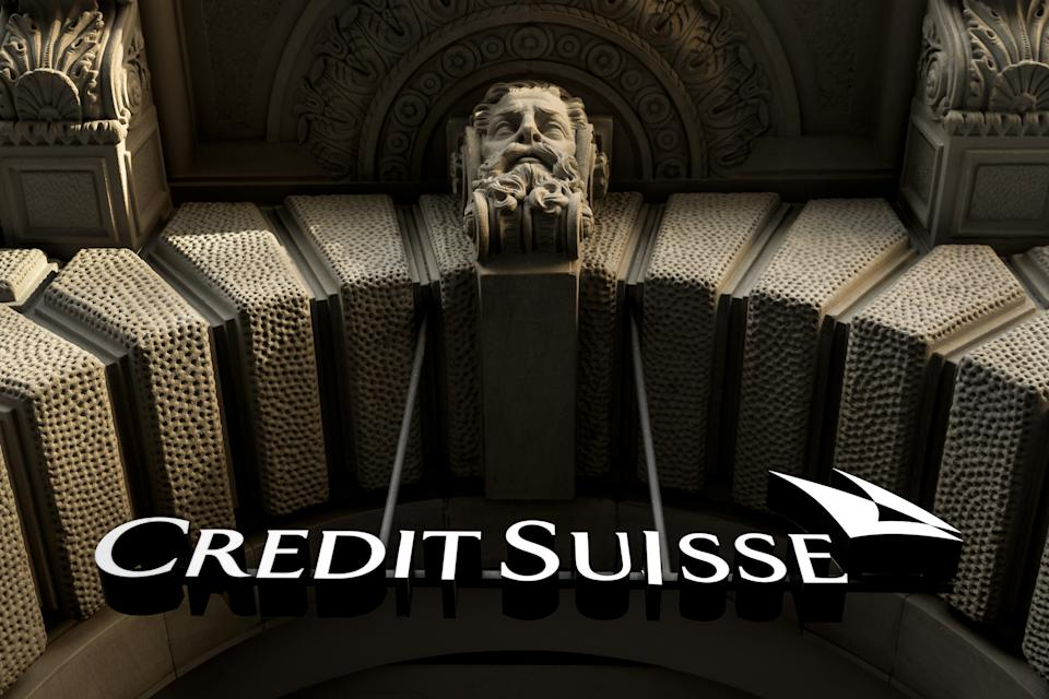 The logo of Swiss banking giant Credit Suisse is seen on October 17, 2017 in Zurich. / AFP PHOTO / Fabrice COFFRINI        (Photo credit should read FABRICE COFFRINI/AFP/Getty Images)