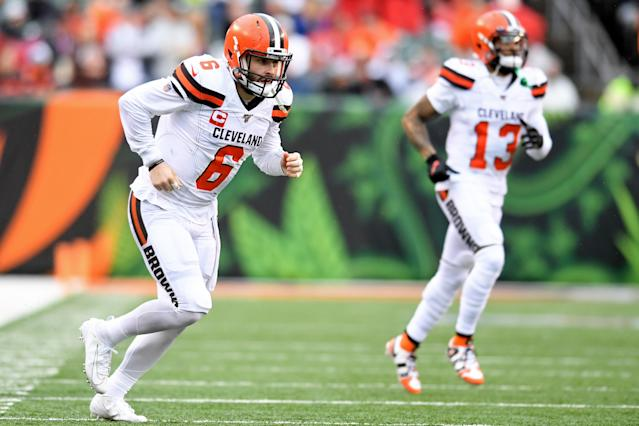 Will the Baker Mayfield and Odell Beckham Jr. connection finally come together in 2020? (Photo by: 2019 Nick Cammett/Diamond Images via Getty Images)