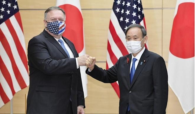 Beijing says US Secretary of State Mike Pompeo (pictured left with Japanese Prime Minister Yoshihide Suga) has repeatedly fabricated lies about China. Photo: Kyodo