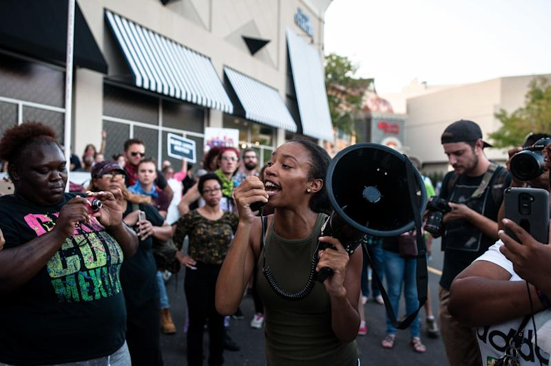 Organizers call an end tothe day's action, saying they successfully shut down the Galleria and Brentwood Boulevard in their protest against a not guilty verdict in a police shooting case.