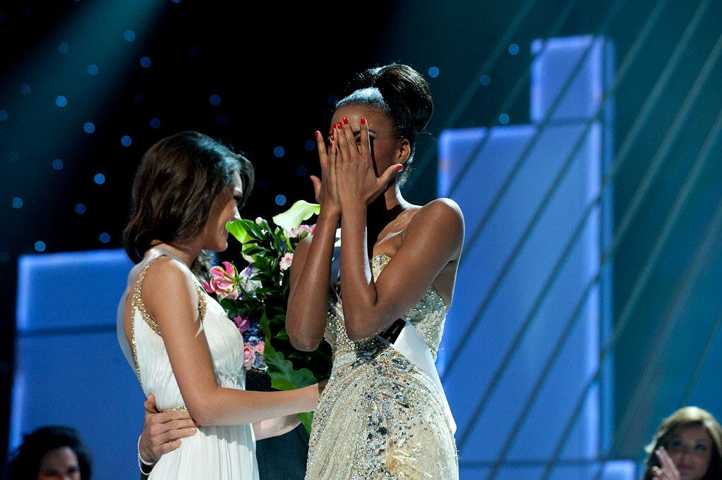 """Miss Angola 2011, Leila Lopes is announced the winner of the 2011 Miss Universe® Competition during the """"60th Annual Miss Universe"""" pageant from São Paulo, Brazil."""