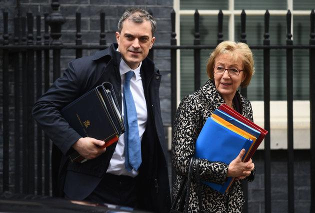 Government Chief Whip Julian Smith with Commons Leader Andrea Leadsom