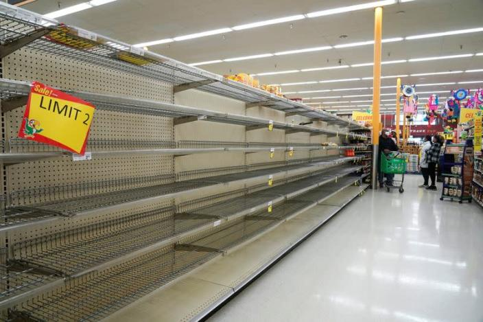 FILE PHOTO: Winter weather caused food and water shortage in Houston