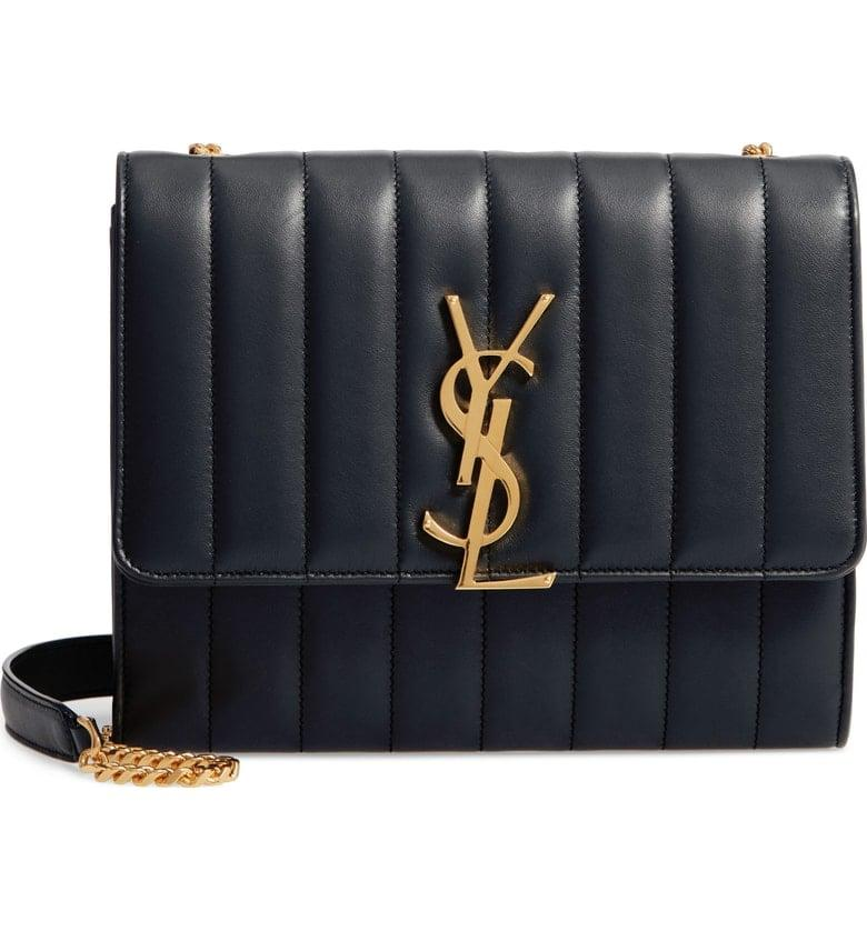 """<p>This <a rel=""""nofollow"""" href=""""https://www.popsugar.com/buy/Saint%20Laurent%20Small%20Vicky%20Leather%20Bag-428880?p_name=Saint%20Laurent%20Small%20Vicky%20Leather%20Bag&retailer=shop.nordstrom.com&price=1%2C488&evar1=fab%3Aus&evar9=45975256&evar98=https%3A%2F%2Fwww.popsugar.com%2Ffashion%2Fphoto-gallery%2F45975256%2Fimage%2F45975436%2FSaint-Laurent-Small-Vicky-Leather-Bag&list1=shopping%2Caccessories%2Cbags%2Cspring%20fashion%2Csale%20shopping&prop13=mobile&pdata=1"""" rel=""""nofollow"""">Saint Laurent Small Vicky Leather Bag</a> ($1,488, originally $1,750) is a timeless piece you'll treasure for decades.</p>"""
