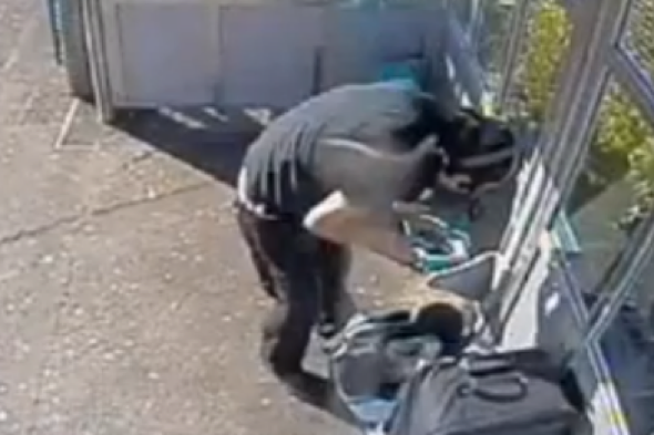 Man ransacks elderly couple's luggage and then helps them on train