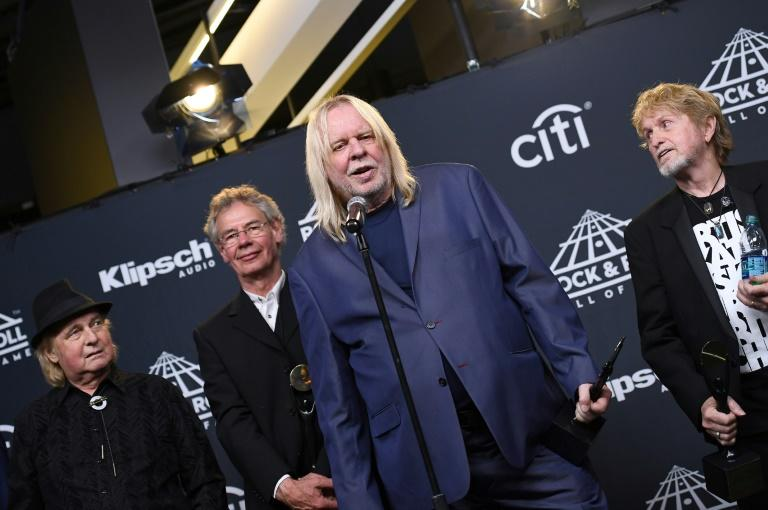 Inductee Rick Wakeman of YES speaks at the 31st Annual Rock And Roll Hall of Fame Induction Ceremony at Barclays Center in New York City
