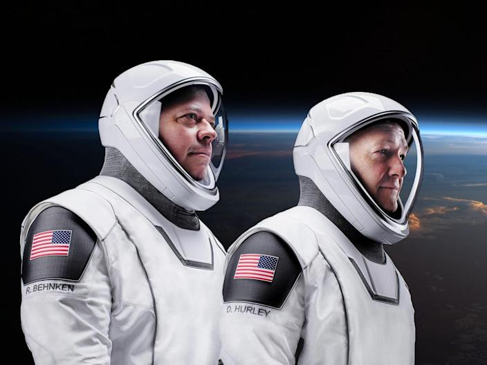 Hurley and Behnken are the first humans SpaceX rocketed into orbit.