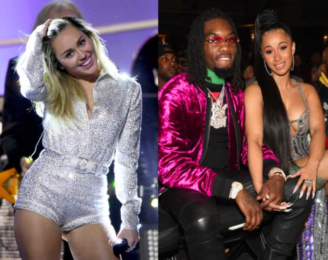 Hip-Hop Fans Aren't Happy With Miley Cyrus Showing Love To Cardi B & Offset